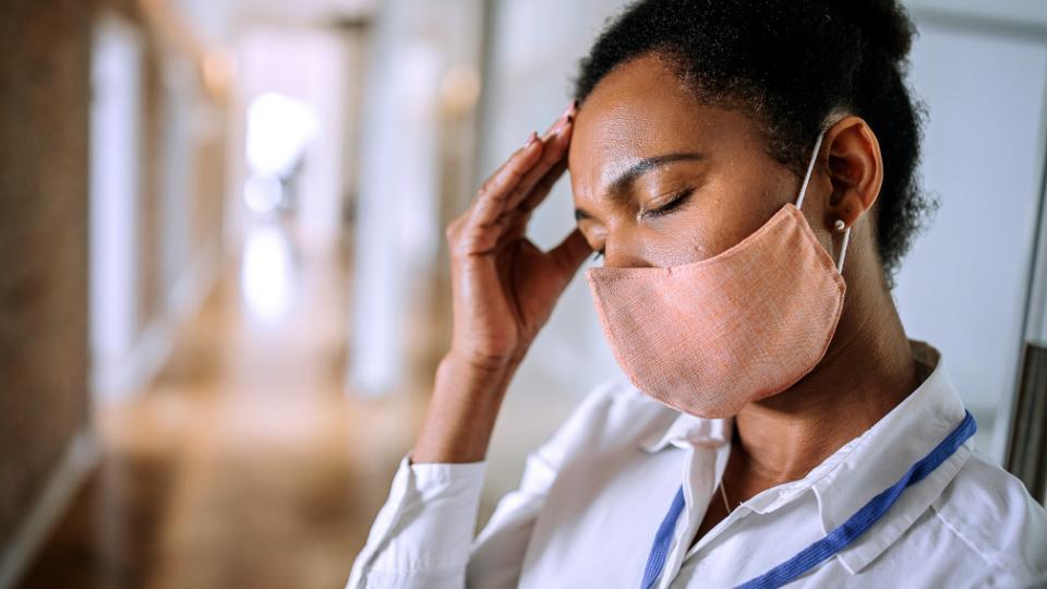 healthcare worker facing burnout